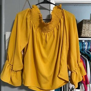 Boutique off the shoulder top new with tags.